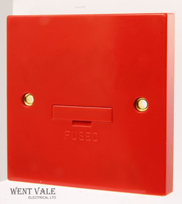 Click Essentials - WA049RD - 3a Red Un-Switched Fused Connection Unit Base F/O